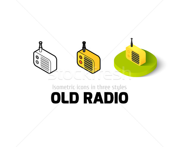 Old radio icon in different style Stock photo © sidmay