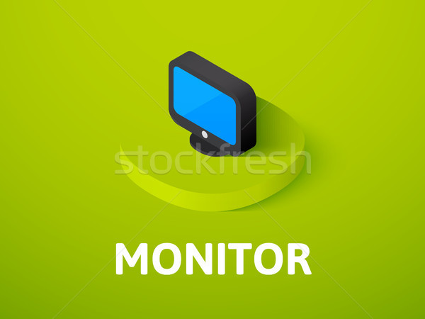 Monitor isometric icon, isolated on color background Stock photo © sidmay