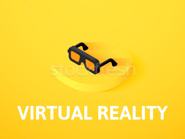 Virtual reality isometric icon, isolated on color background Stock photo © sidmay