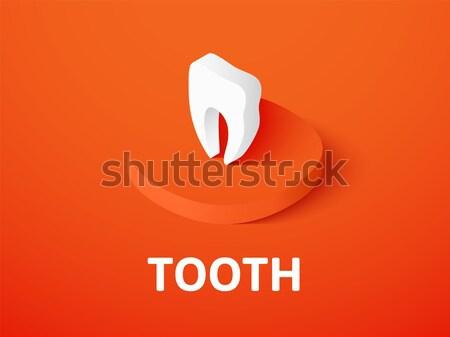 Stockfoto: Tand · isometrische · icon · geïsoleerd · kleur · vector