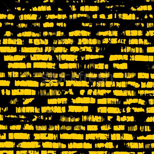 кирпичная стена желтый рельеф текстуры тень строительство Сток-фото © sidmay