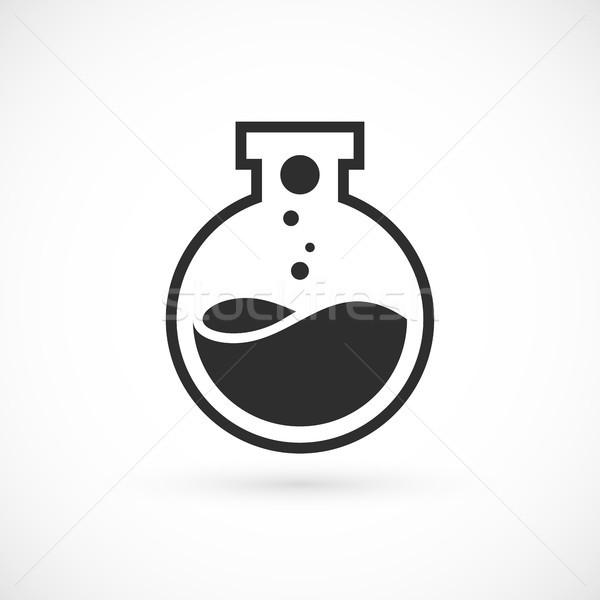 Nano laboratuvar logo şablon vektör bilim Stok fotoğraf © sidmay