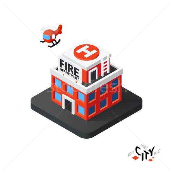 Icono edificio ciudad infografía Foto stock © sidmay