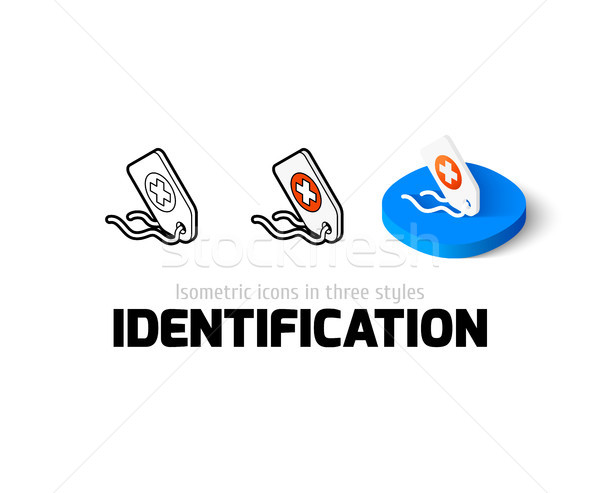 Identification icon in different style Stock photo © sidmay