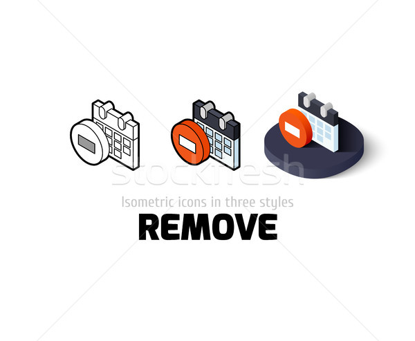 Remove icon in different style Stock photo © sidmay