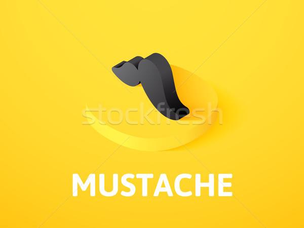 Bigote icono aislado color vector Foto stock © sidmay