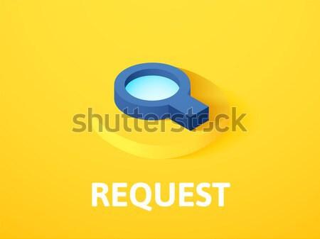Solicitar ícone diferente estilo vetor símbolo Foto stock © sidmay