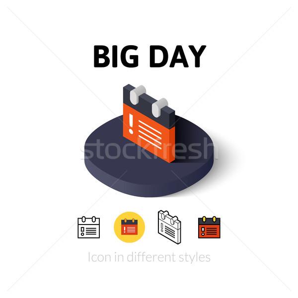 большой день икона различный стиль вектора Сток-фото © sidmay