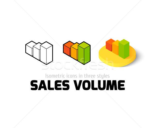 Satış hacim ikon farklı stil vektör Stok fotoğraf © sidmay