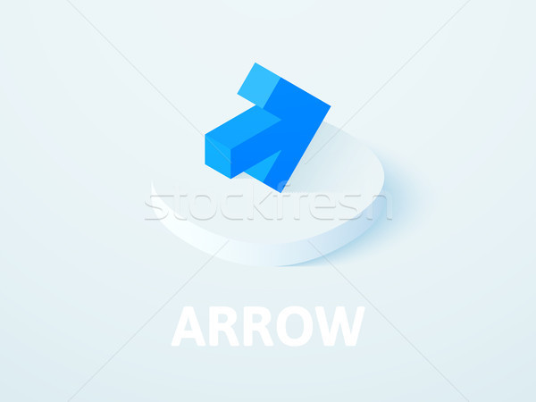 Arrow isometric icon, isolated on color background Stock photo © sidmay