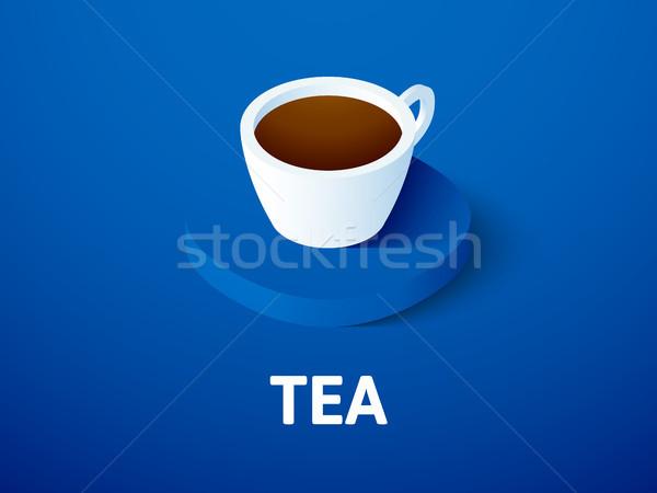 Chá isométrica ícone isolado cor vetor Foto stock © sidmay