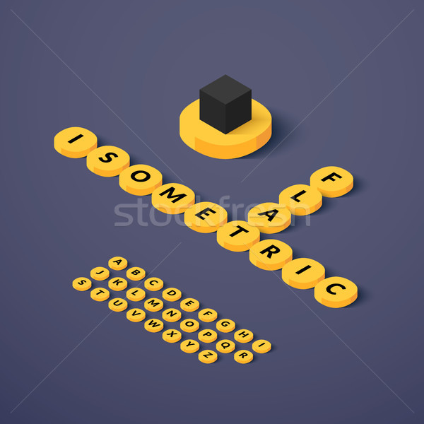Isometric blocks with letters Stock photo © sidmay