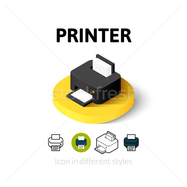 Printer icon verschillend stijl vector symbool Stockfoto © sidmay