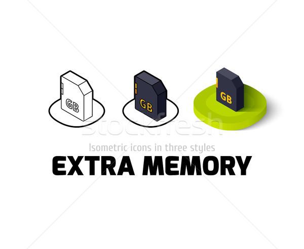Extra geheugen icon verschillend stijl vector Stockfoto © sidmay