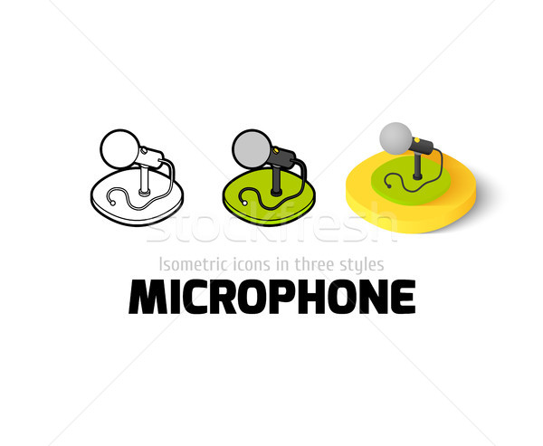 Microphone icon in different style Stock photo © sidmay