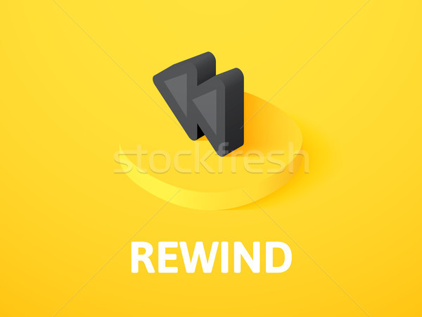 Rewind isometric icon, isolated on color background Stock photo © sidmay