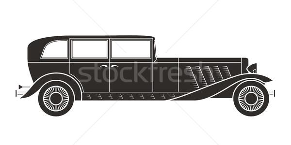 Retro araba bağbozumu toplama klasik garaj Stok fotoğraf © sidmay