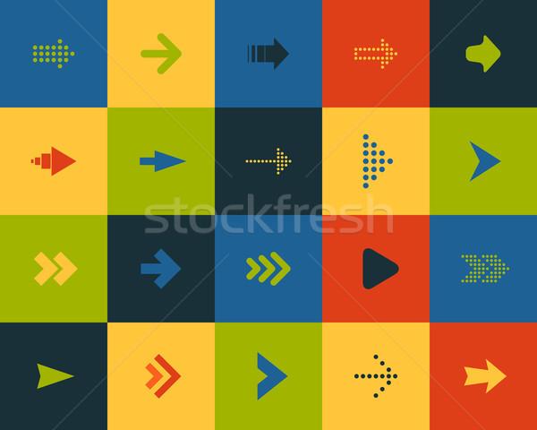 Flat icons set 28 Stock photo © sidmay
