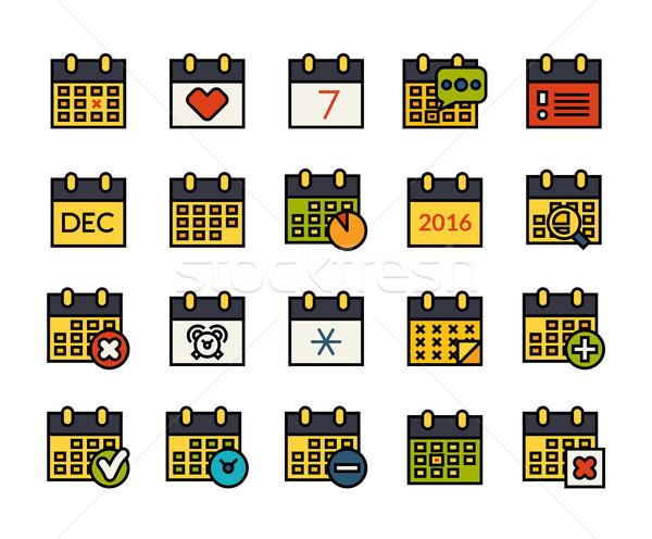 ícones fino projeto moderno linha Foto stock © sidmay