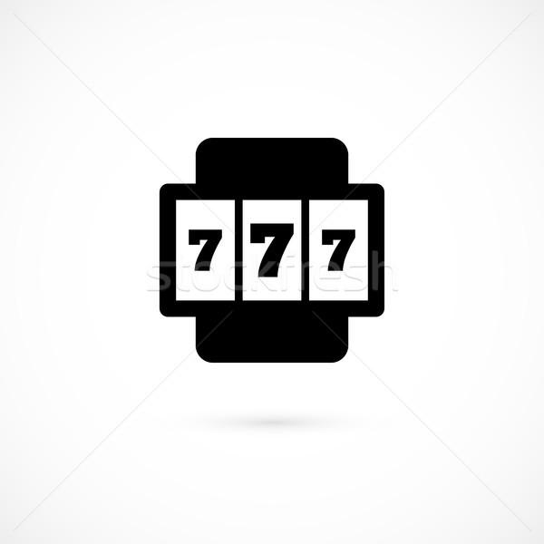 Játékautomata ikon izolált fehér vektor logo Stock fotó © sidmay