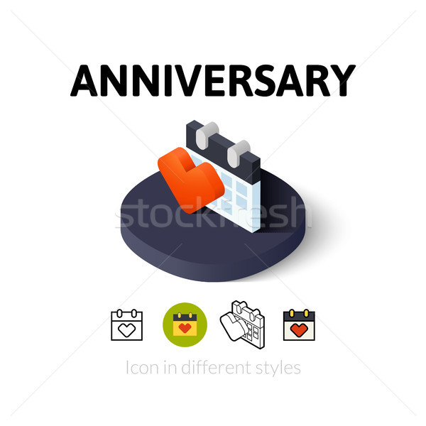 Anniversary icon in different style Stock photo © sidmay