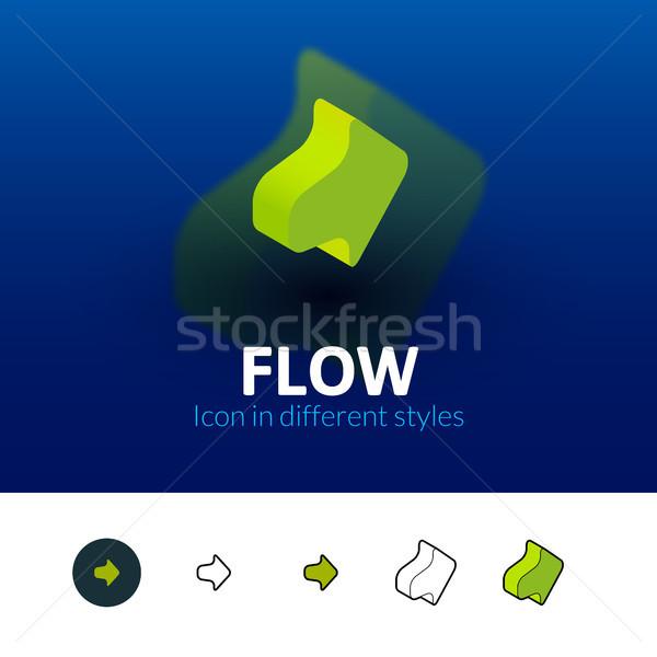 áramlás ikon különböző stílus szín vektor Stock fotó © sidmay