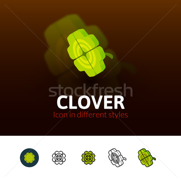 Clover icon in different style Stock photo © sidmay