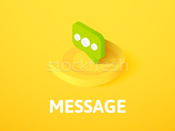 Message isometric icon, isolated on color background Stock photo © sidmay