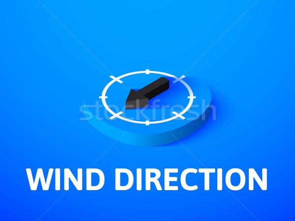 Vento direzione isometrica icona isolato colore Foto d'archivio © sidmay
