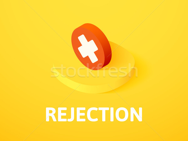 Stock photo: Rejection isometric icon, isolated on color background