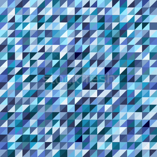 Geometric mosaic pattern from blue triangle Stock photo © sidmay