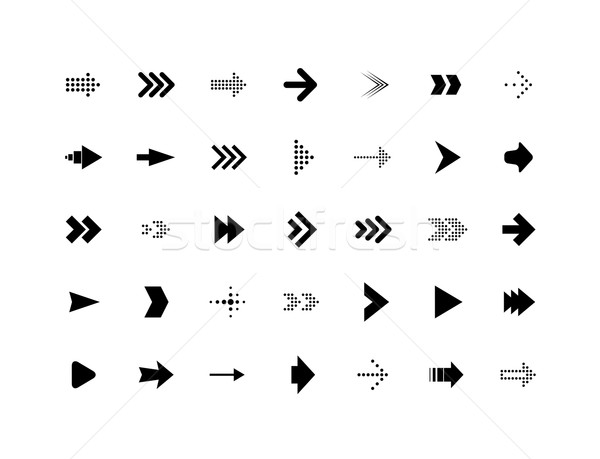 Arrow sign vector icons set Stock photo © sidmay