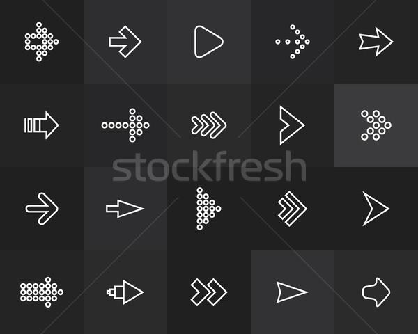 иконки тонкий дизайна современных линия Сток-фото © sidmay