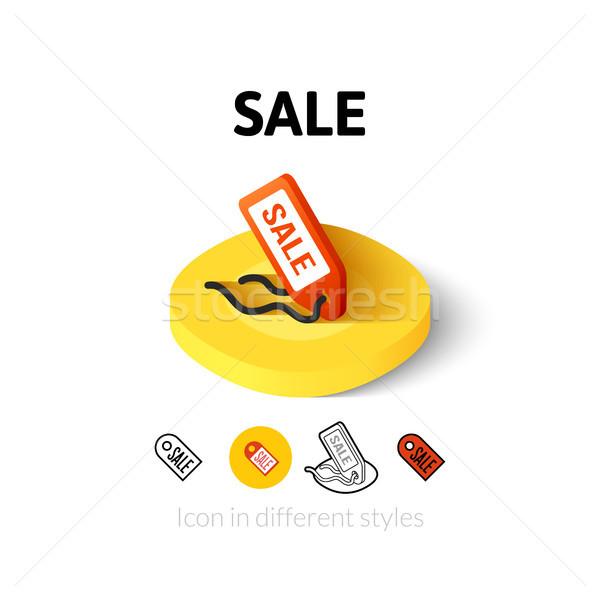продажи икона различный стиль вектора символ Сток-фото © sidmay