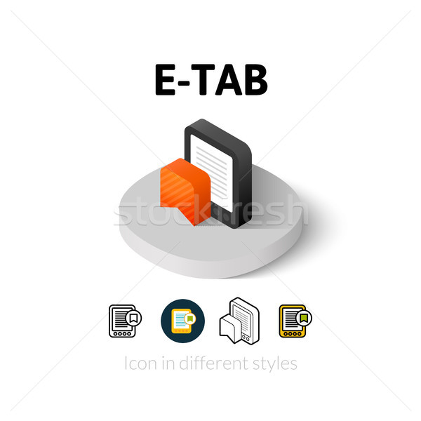 E-Tab icon in different style Stock photo © sidmay