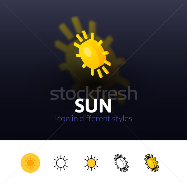 Sun icon in different style Stock photo © sidmay