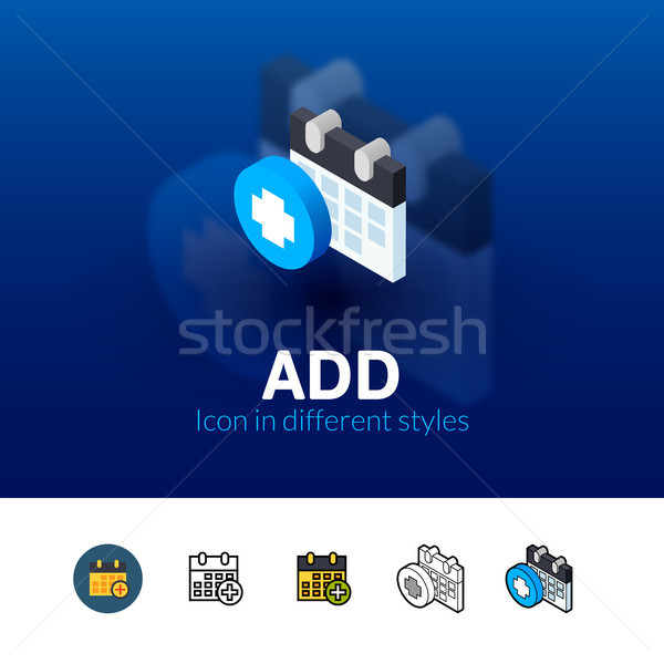 Add icon in different style Stock photo © sidmay