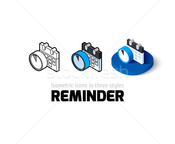Reminder icon in different style Stock photo © sidmay