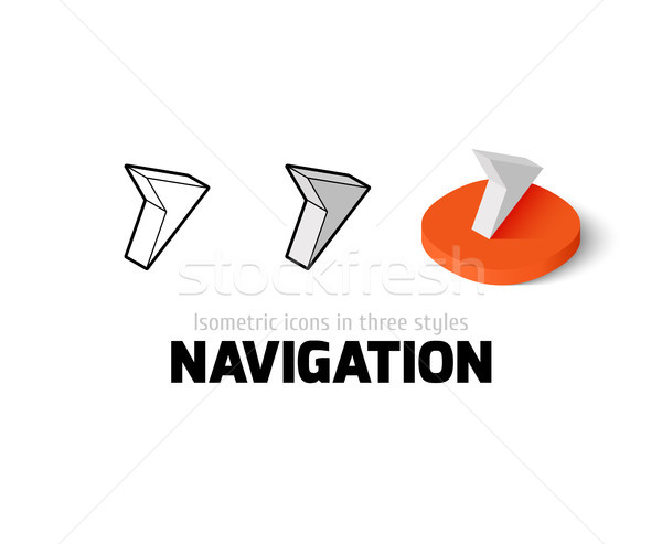 Navigation icon in different style Stock photo © sidmay