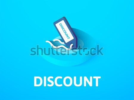 Statistics isometric icon, isolated on color background Stock photo © sidmay