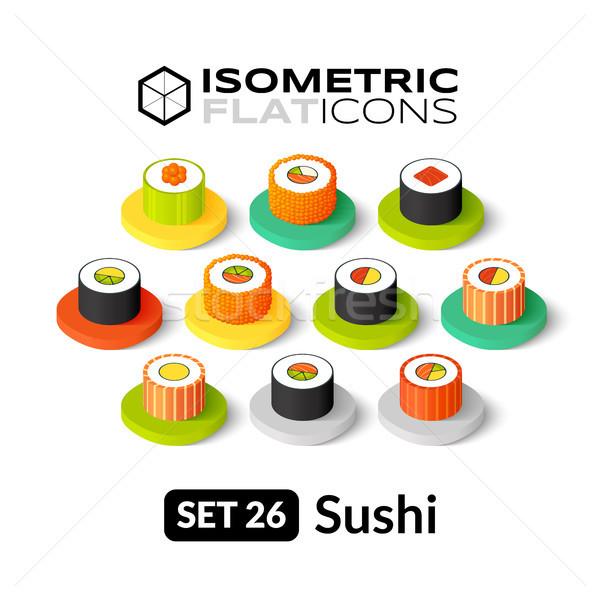 Isométrica 26 ícones 3D pictogramas Foto stock © sidmay