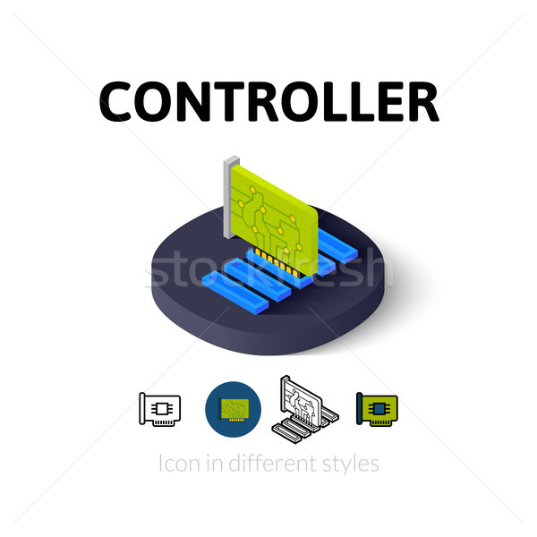 Controller icon in different style Stock photo © sidmay