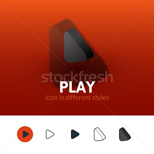 Játék ikon különböző stílus szín vektor Stock fotó © sidmay
