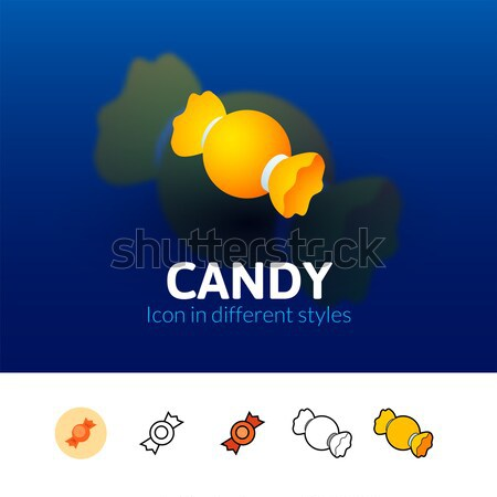 Candy icon in different style Stock photo © sidmay