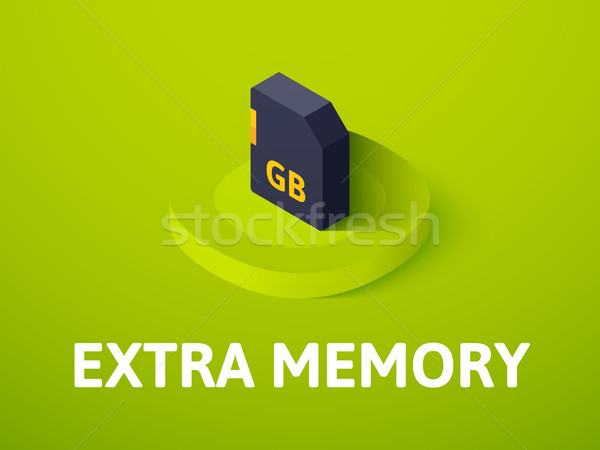 Extra memory isometric icon, isolated on color background Stock photo © sidmay