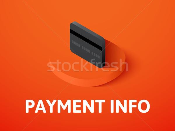 Betaling info isometrische icon geïsoleerd kleur Stockfoto © sidmay