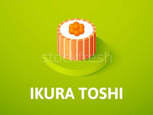 Ikura toshi isometric icon, isolated on color background Stock photo © sidmay