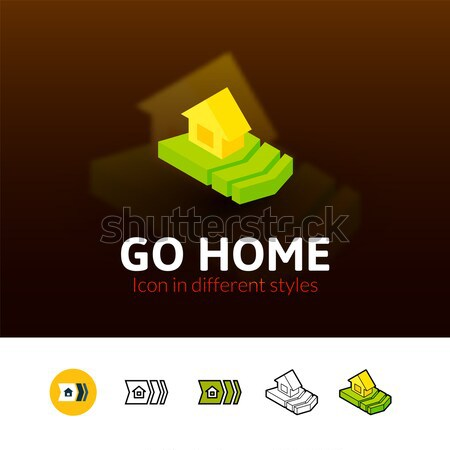 Deal isometric icon, isolated on color background Stock photo © sidmay