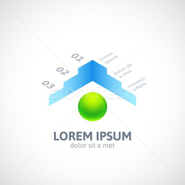 Modern üzlet minimális stílus infografika szalag Stock fotó © sidmay