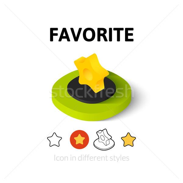 Favoriet icon verschillend stijl vector symbool Stockfoto © sidmay